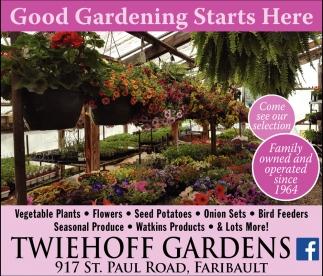 Plants, Flowers, Produce, Twiehoff Gardens, Faribault, MN