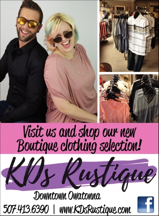 Visit us and shop our new Butique clothing selectin!