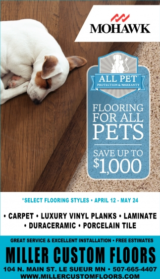 All Pet Protection & Warranty, Miller Custom Floors, Le Sueur, MN