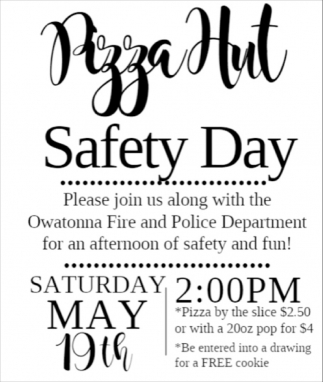 Safety Day, Pizza Hut - Owatonna, Owatonna, MN