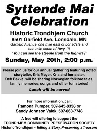 Syttende Mai Celebration