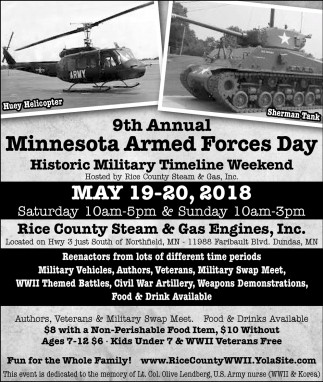 9th Annual Minnesota Armed Forces Day, Rice County Steam & Gas Engines, Faribault, MN