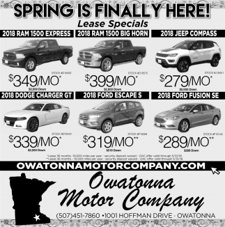 Spring is finally here!, Owatonna Motor Company, Owatonna, MN