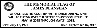Memorial Flag of James Blanshan