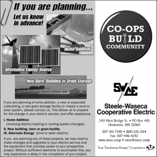 Co Ops Build Community, Steele Waseca Cooperative Electric, Owatonna, MN