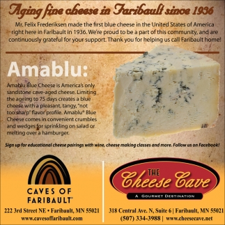 Aging fine cheese in Faribault since 1936, The Cheese Cave, Faribault, MN