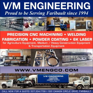 Precision CNC Machining, Welding, Powder Coating, Laser, VM Engineering