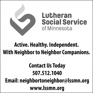 Active. Healthy. Independent. With Neighbor to Neighbor Companions