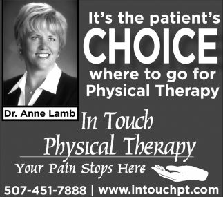 Dr. Anne Lamb, In Touch Physical Therapy, Owatonna, MN