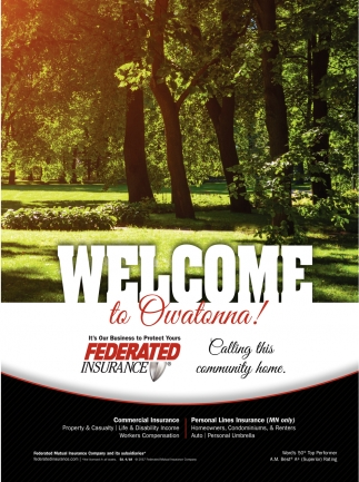 Welcome to Owatonna, Federated Insurance, Owatonna, MN
