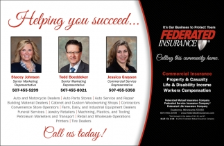Helping you succeed, Federated Insurance, Owatonna, MN