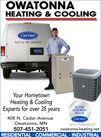 Your Hometown Heating & Cooling Experts for over 35 years, Owatonna Heating & Cooling, Owatonna, MN