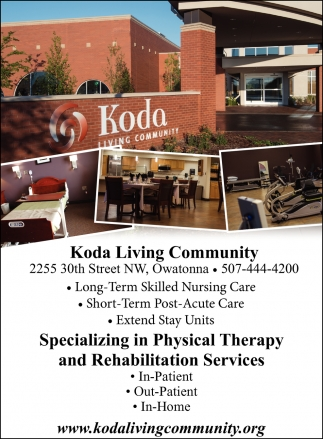 Physical Therapy and Rehabilitation Services, Koda Living Community , Owatonna, MN