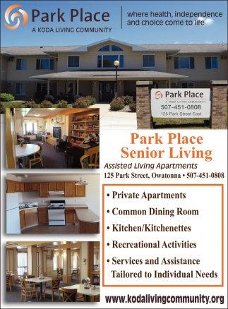 Assisted Living Apartments, Park Place Senior Living | Koda Living  Community, Owatonna, MN