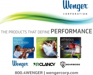 High-quality products and solutions for music and theatre education, performing arts and athletic equipment storage, Wenger Corporation, Owatonna, MN