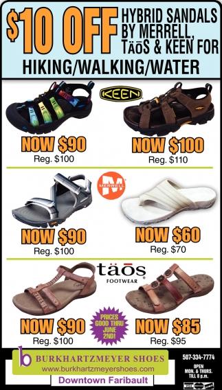 $10 off  hybrid sandals