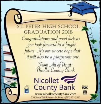 St. Peter High School Graduation 2018