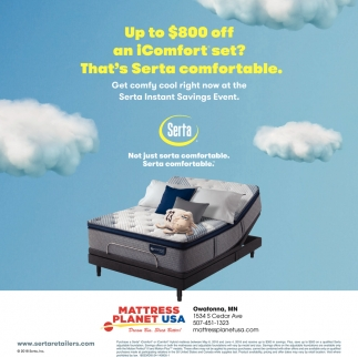 Serta iComfort, Mattress Planet USA - Owatonna