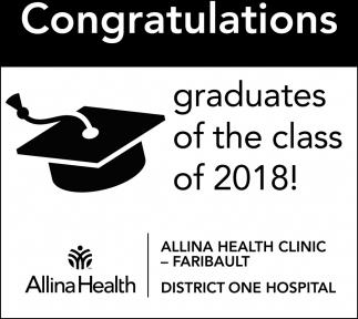 Congratulations graduates of the class of 2018