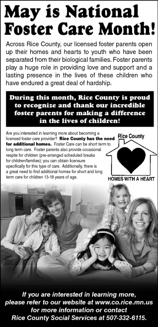 May is National Foster Care Month!