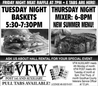 Tuesday Night Baskets / Thursday Night Mixer