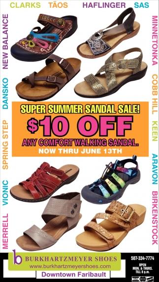 Super Summer Sandal Sale $10 off
