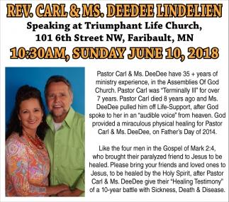 Rev. Carl & Ms. Deedee Lindelien