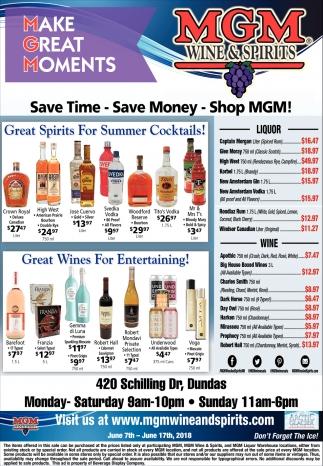 Save time, save mony, shop MGM!