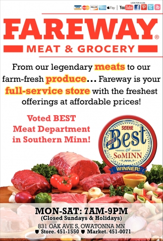 Best Meat Department in Southern Minn