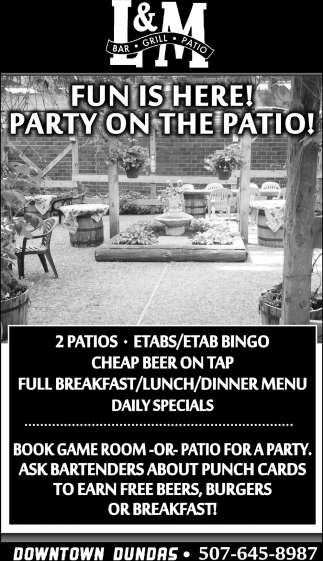 Party on the patio!
