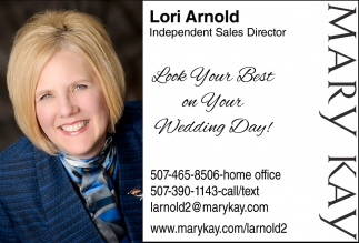 Look your best on you wedding day!, Mary Kay: Lori Arnold