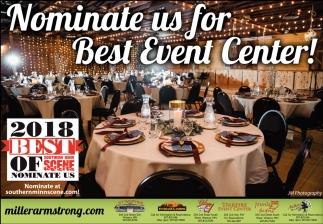 Nominate us for Best Event Center!