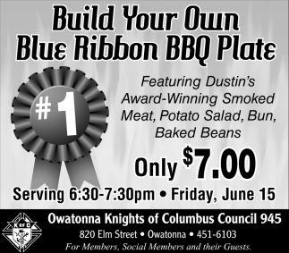 Build Your Own Blue Ribbon BBQ Plate