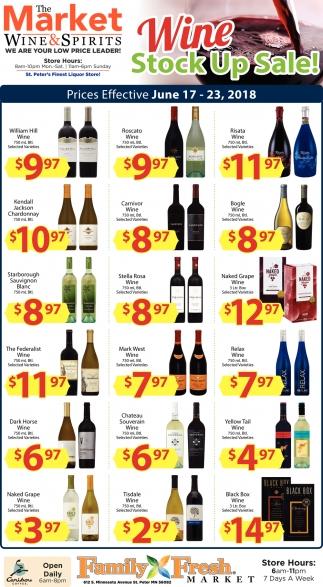 Wine Stock Up Sale!