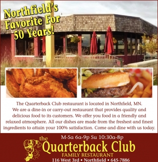 Northfield's Favorite For 50 Years!