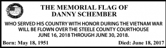Memorial Flag of Danny Schember