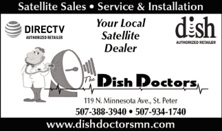 Satellite Sales, Service & Installation, The Dish Doctors Inc, St.peter, MN