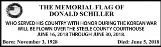 Memorial Flag of Donald Schiller