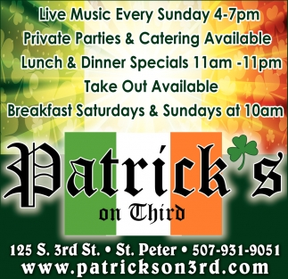Live Music, Catering, Lunch & Dinner Specials