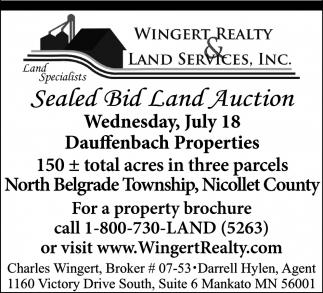 Sealed Bid Land Auction