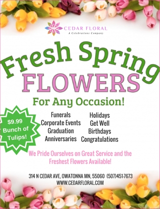 Fresh Spring Flower For Any Occasion!, Cedar Floral, Owatonna, MN