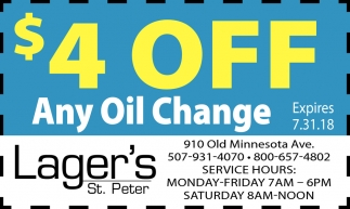 $4 off any oil change