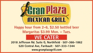 We Cater, Gran Plaza Mexican Grill, Northfield, MN