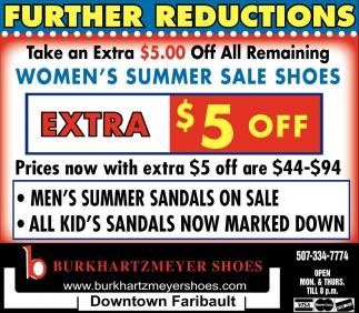 Women's Summer Sale Shoes