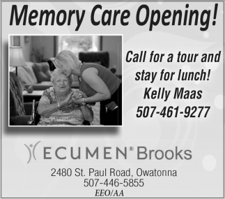 Memory Care Opening