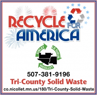 Recycle for America, Tri-County Solid Waste , St Peter, MN