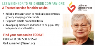 Service for older adults