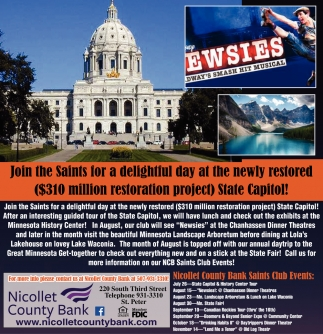 Nicollet County Bank Saint Club Events