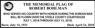 Memorial Flag of Robert Bohlman