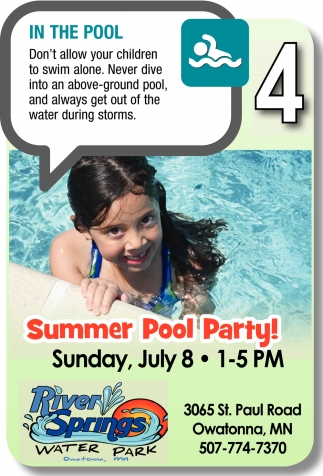 Summer Pool Party, River Springs Water Park, Owatonna, MN